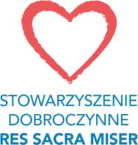 logotyp Stowarzyszenia - czerwone serce z niebieskim napisem z nazwą Stowarzyszenia